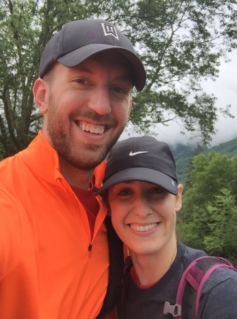 Joe & his wife hiking in the Great Smokey Mountains