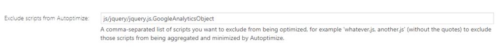Autoptimize settings