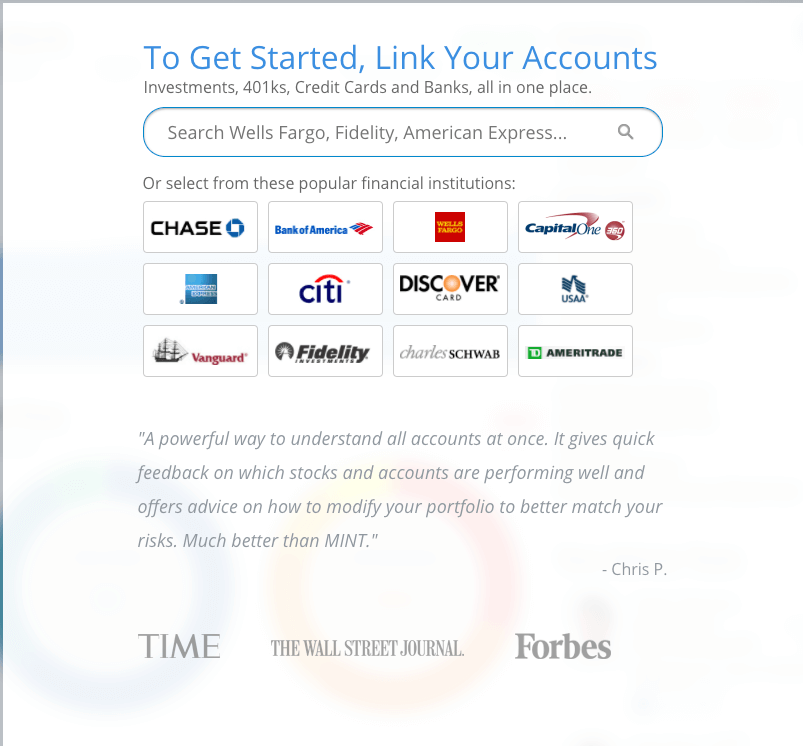 link your account to personal capital